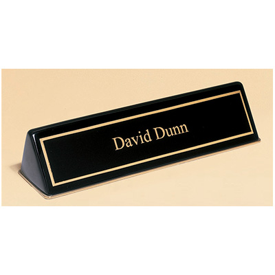 Black Finish Nameplate