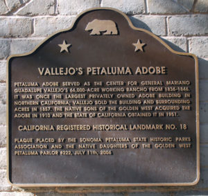 Petaluma Adobe Plaque