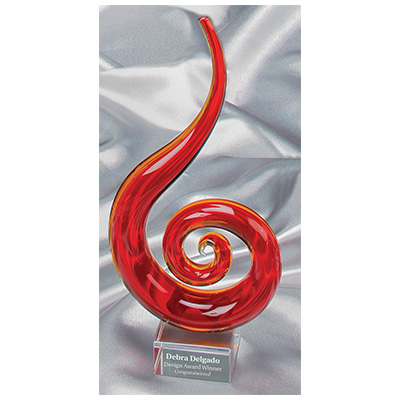 Red Fire Art Glass Award