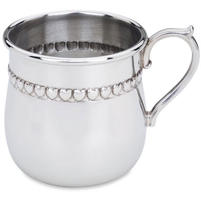 Baby Hearts Pewter Cup