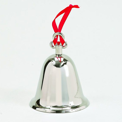 Silver Bell Ornament