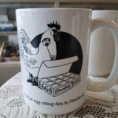Egg-citing Day in Petaluma Mug