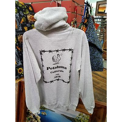 Petaluma Cow Hoodie Sweatshirt back