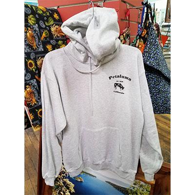 Petaluma Cow Hoodie Sweatshirt front