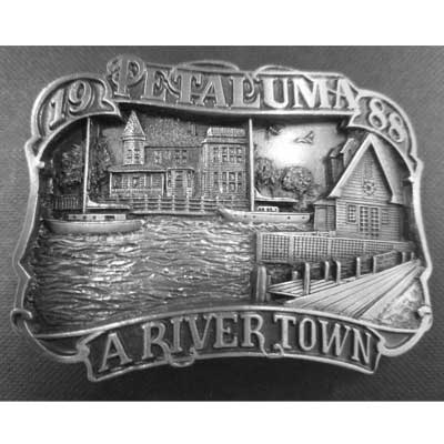 Petaluma - A Rivertown Belt Buckle