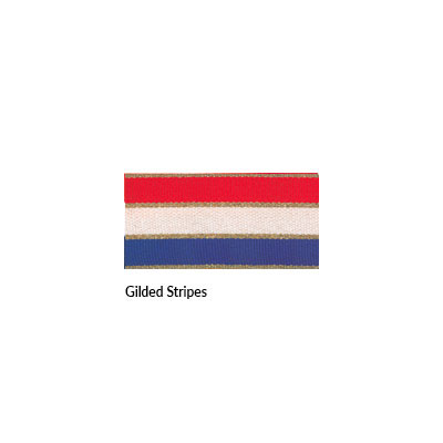 Neck Ribbon - Gilded Stripes