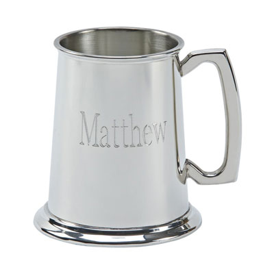Pewter Tankard with bright polished finish