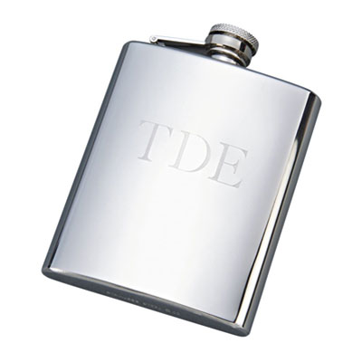 Stainless Steel Flask with Bright Finish 8oz
