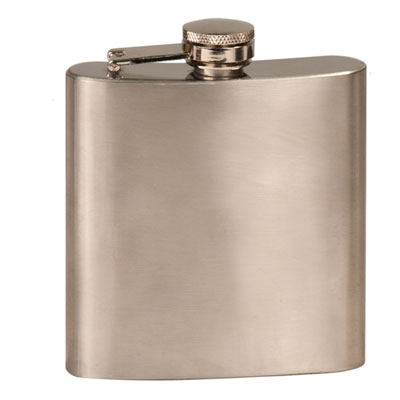 Stainless Steel Flask, 6 oz.