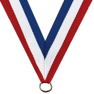 Neck Ribbon - red/white/blue